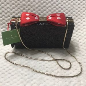 Kate Spade / Disney Minnie Mouse Bow Clasp Clutch